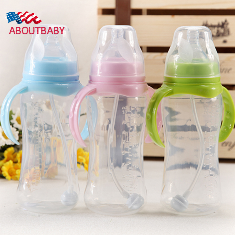 Cute Silicone Baby Feeding Bottle Infant Newborn Feeding ...