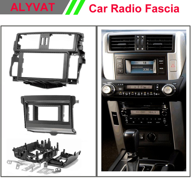 car dvd radio installation dash mount kit stereo install for toyota land  cruiser prado(150)(with 4 2