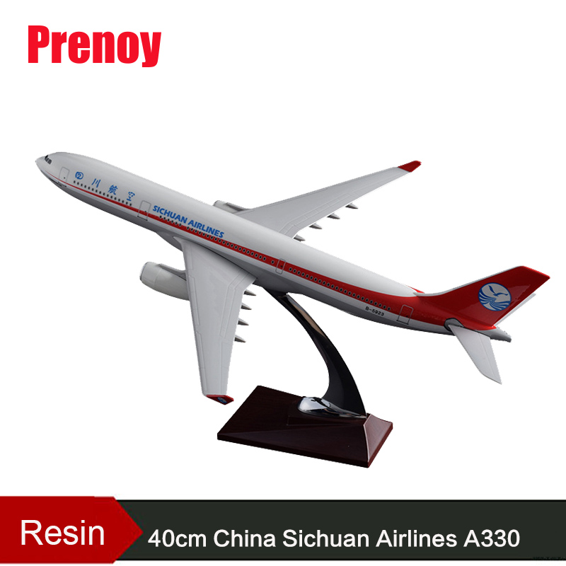 40cm A330 Resin Aircraft Model Sichuan Airlines Airplane Model Airbus Airways China Sichuan Air Aviation Model Stand Craft A330 стоимость