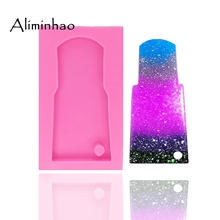 DY0045 DIY water glass shape silicone tumbler mold for key chain Perforated moulds suitable polymer clay