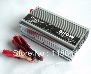 800W DC12V/24V to AC 220V Car Power Inverter Silver High Quality and Competitive Price 800G Free Shipping