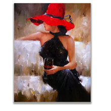 Hand Painted Canvas Art Poster The beauty bar oil painting Leisure fashion figure painting. free shipping