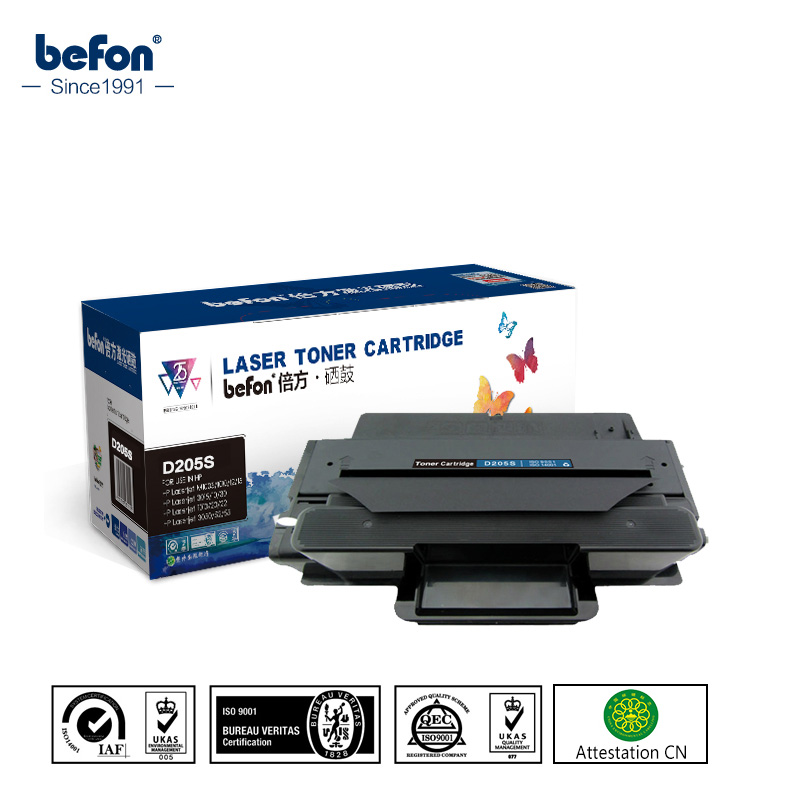 befon Black Toner Cartridge for Samsung MLT-D205S D205 205S 205 Compatible for Ml-3310 ML-3710 ML-3712 SCX-4833 4835 FR 4835 FD