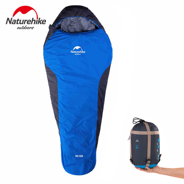 Naturehike Ultralight Sleeping Bag Portable Outdoor Travel Hooded Mummy Attachable Camping Hiking Ml150