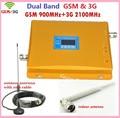 3G WCDMA 2100 MHZ Booster Booster GSM 900 MHZ, antena gsm Kit de repetidor de Señal de Doble Banda Del Amplificador de RF Repetidor de Señal de Móvil