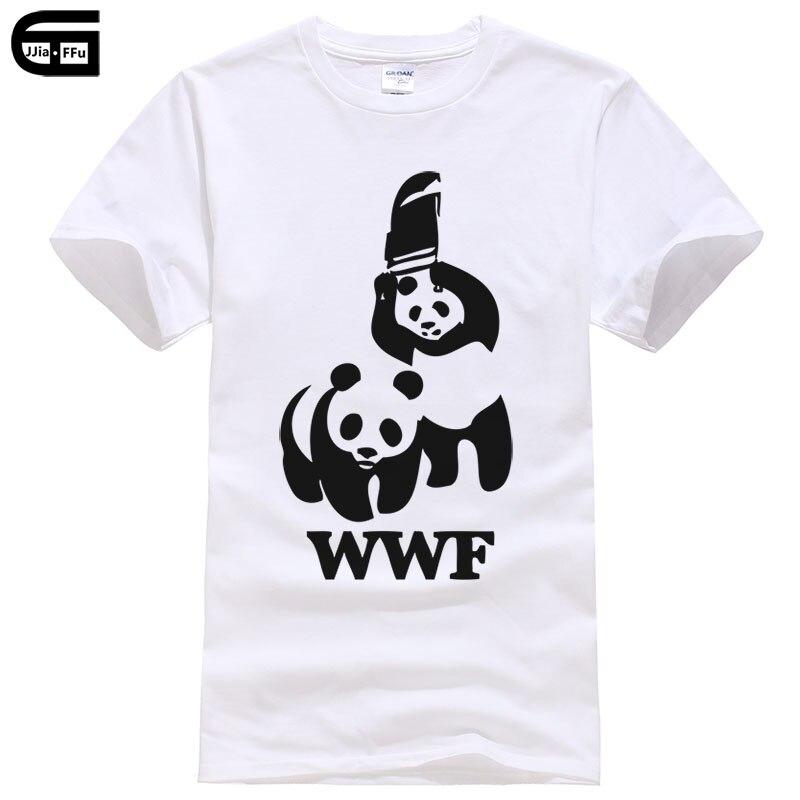 New 2018 summer casual t shirt men cotton tees Cartoon WWF panda printed short sleeve o-neck harajuku t shirts T152(China)
