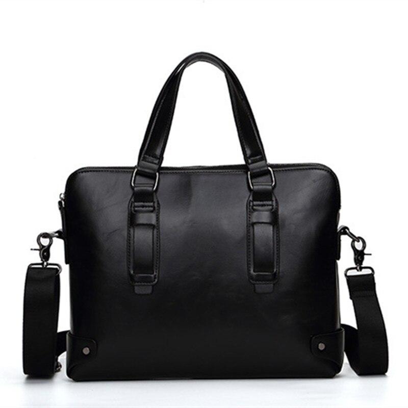 2018 Männer Mode Leder 13 Zoll Laptop Aktentaschen Handtasche Business Messenger Umhängetaschen Für Männer