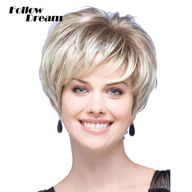 Short Wigs Synthetic Hair New Fashion European and American Style Fluffy Curly Wigs for Black Women Brown Blonde Wigs Short Hair