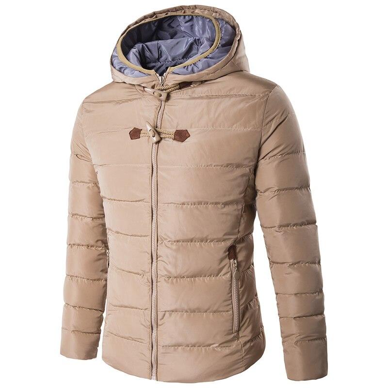 ФОТО Hot Sale Long Winter Men Clothing Outwear Casual Jacket Cotton Parkas Male Big Coat Slim Fit Windbreaker Down Parkas