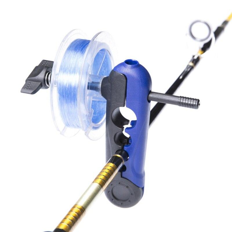 ポータブルユニバーサル釣り糸スプーラ調整可能なさまざまなサイズロッドワインダーボードスプールラインラッパーミニボビンリール  USD 割引価格 5