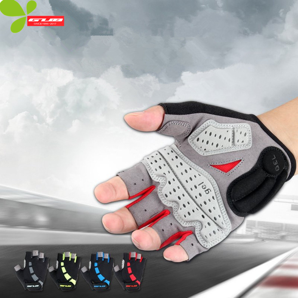 WOSAWE New Cycling gloves Bike Bicycle GEL Shockproof Sports Half Finger Gloves High Quality