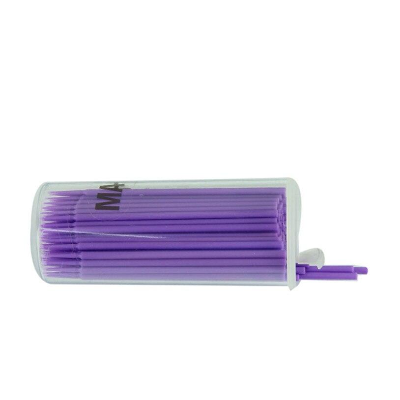 Peach Girl Store 100pcs Eyelash Extension Micro Brushes Disposable Individual Applicators Mascara Eyelashes Make Up Brush 6614