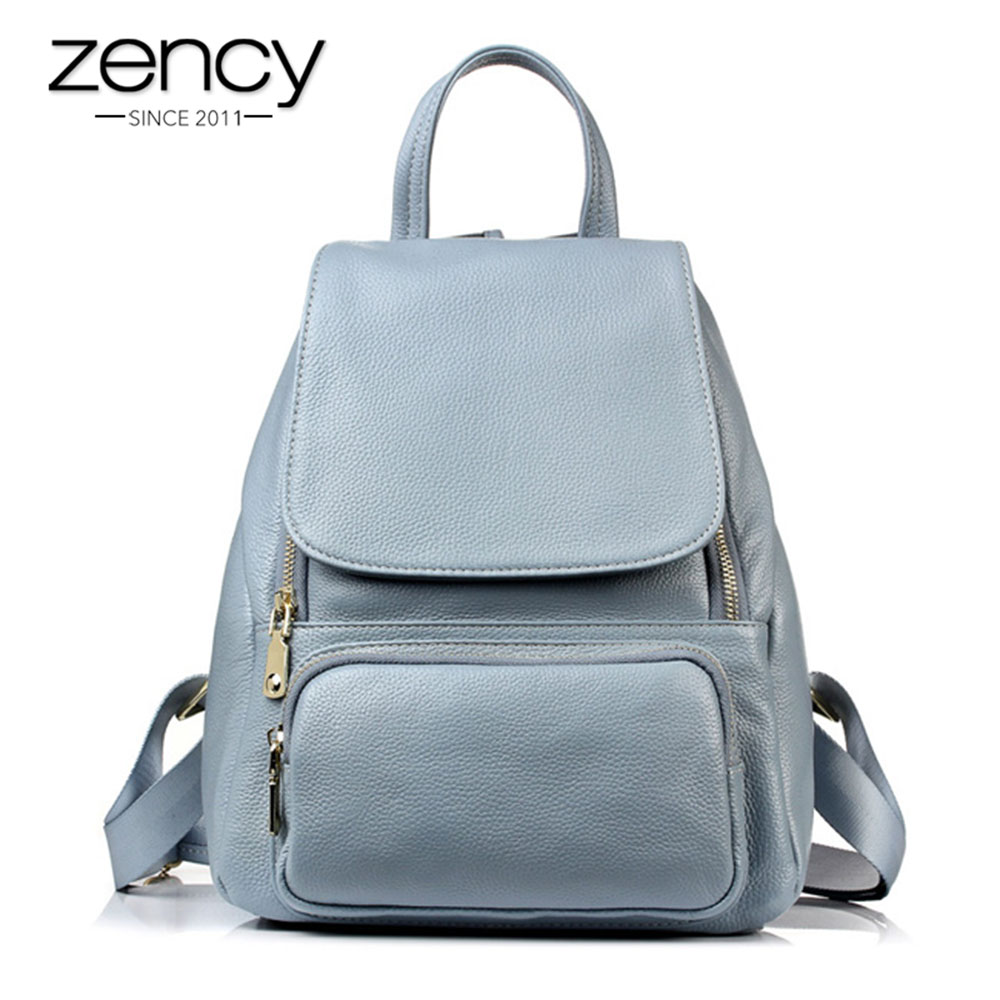 Zency High Quality 100% Genuine Leather Fashion Women Backpack Girls Schoolbag Notebook Daily Casual Knapsack Female Travel BagZency High Quality 100% Genuine Leather Fashion Women Backpack Girls Schoolbag Notebook Daily Casual Knapsack Female Travel Bag
