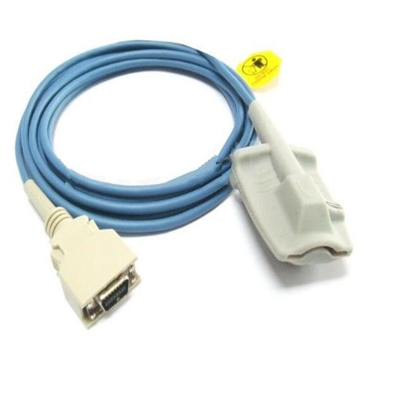 Compatibile Per Masimo SCSI 14 Spille Adulto Softtip Silicone Spo2 Sensore di Impulso Sonda Ossimetria Sensore di Ossigeno 3 M/9ft TPU