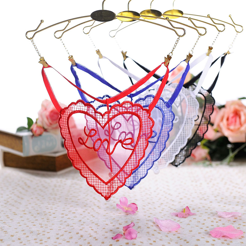 Buy Sexy Pendant Lady T-back Embroidery Pearl G String Women Massage Low Waist Thongs Underwear Briefs Transparent Mesh Panties