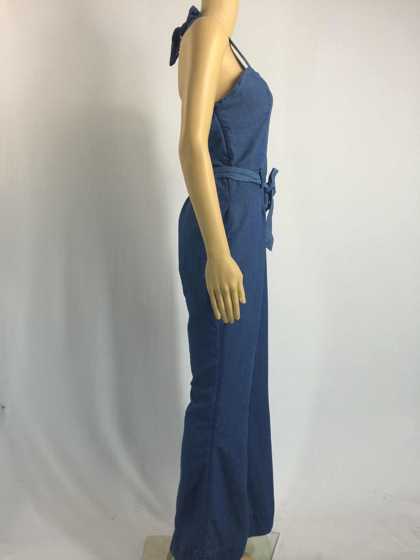 30e9b84b0e83 ... Women Ripped Denim Jumpsuits Casual Sexy Stretch Romper Plus Size XL  Ladies Denim Pencil Overalls
