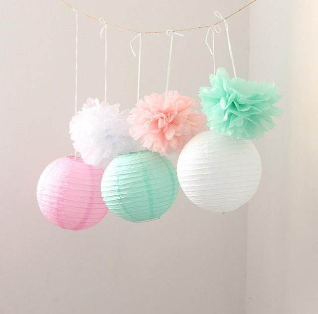 Online Shop New Combination 6pcs Mint Green Pink White Baby Shower