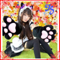 Fashion Soft Lovely Catwomen Claw Gloves for Cosplay Housemaid Costum Gloves Accessories Big Size Sexy Cat Paw Gloves One Piece