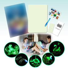 set for drawing with light in dark board creative arts and crafts colors for kids children stencil painting kit educational toys