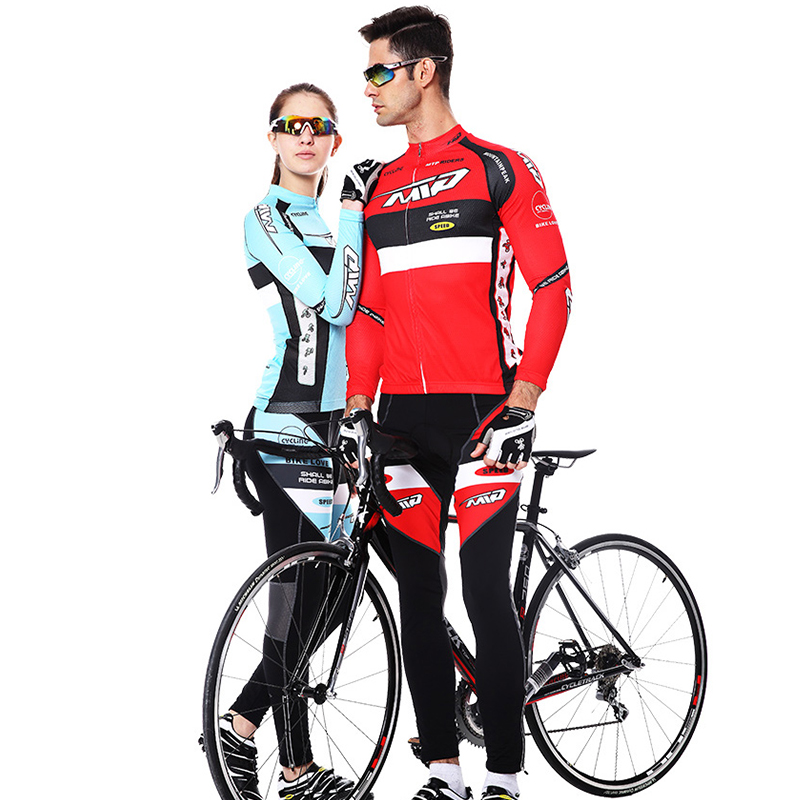 2017 Spring Long Sleeve Man&Woman UV Protect Cycling Jerseys Suit Mountain Bike Quick Dry Riding Jersey Pants Bike Clothing Sets dichski outdoor bike coat quick dry mtb riding pants mountain 2017 long sleeve cycling sets suit male autumn winter jersey h233