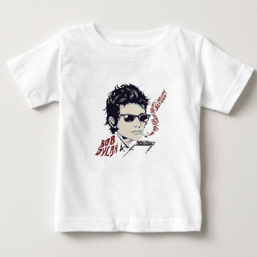 Kids 3D Printing T shirt singer Bob Dylan T-shirt boy/girl Short Sleeve O-neck Tees summer tops Tshirts baby tee shirt 3T-8T NN