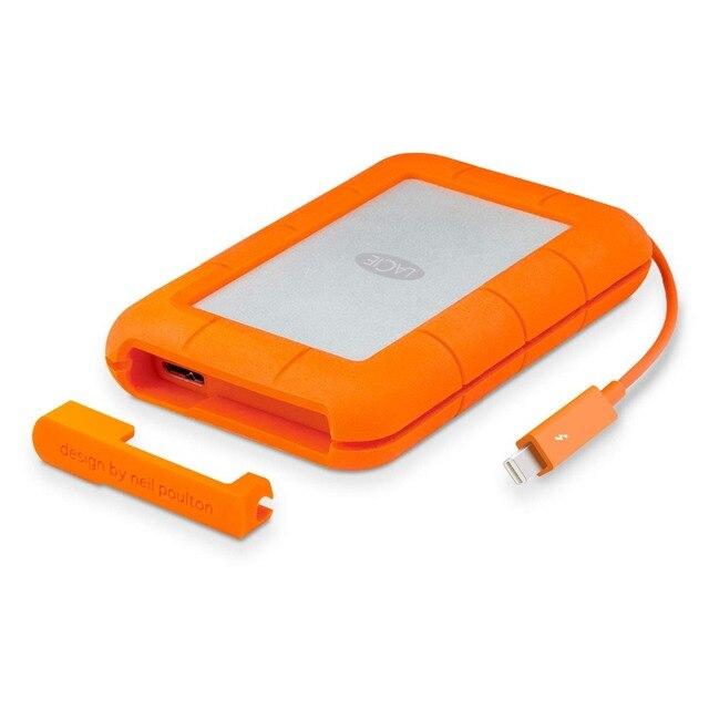 """Seagate LaCie Rugged 1TB 2TB 4TB Thunderbolt e USB 3.0 Portable Hard Drive da 2.5 """"HDD Esterno sport HDD per il Computer Portatile Desktop"""