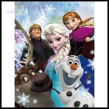 "Full Square 5D Diy Diamond Painting Cross Stitch ""Frozen movie poster"" 3D Diamond Embroidery Rhinestone Mosaic Decor NEW682"