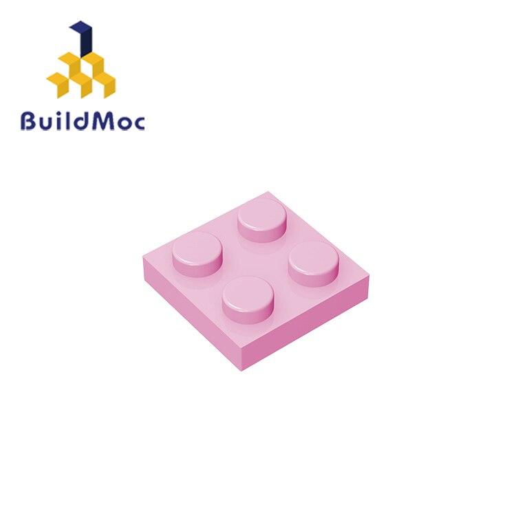 BuildMOC Compatible Assembles Particles Plate 3022 2x2 For Building Blocks DIY LOGO Educational High-Tech Spare Toys
