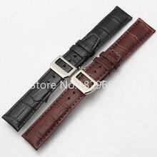 20 mm 22 mm cuero genuino negro Croco Grain venda de reloj de la correa