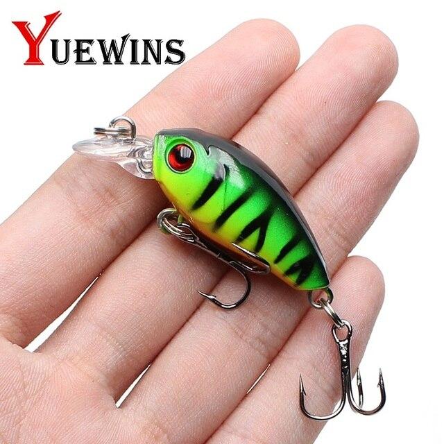 Yuewins Mini Crankbait Fishing Lure 45 มิลลิเมตร 4.1 กรัม Topwater ญี่ปุ่นประดิษฐ์ Hard เหยื่อ Minnow Swimbait Trout ตกปลา QA267