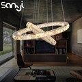 SANYI современный подвесной потолочный светильник светодиодный светильник с кристаллами подвесной светильник для гостиной