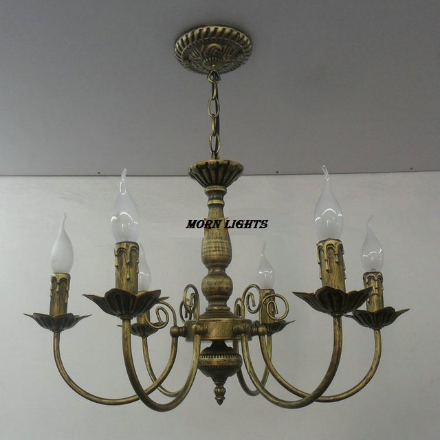 online shop free shipping antique iron chandelier lighting iron