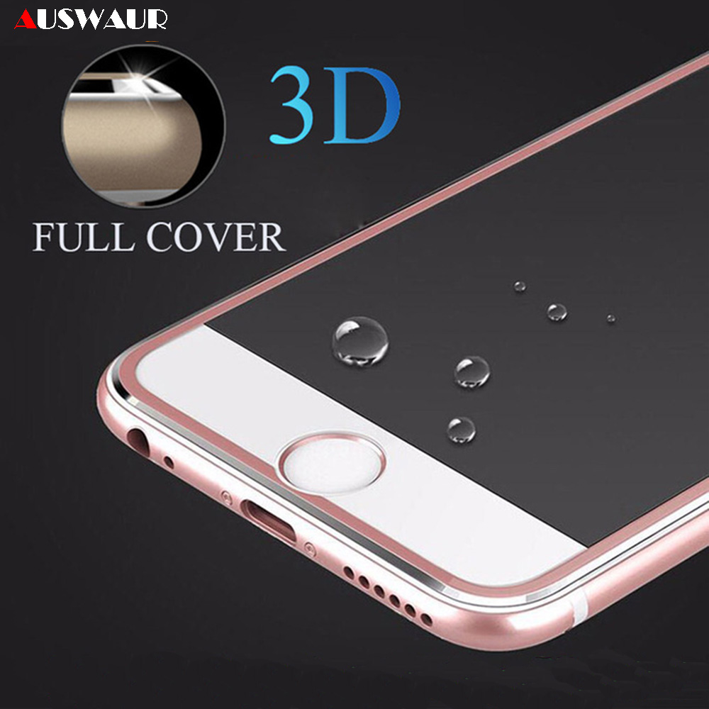 9H 3D Titanium Metal Frame Curved Full <font><b>Cover</b></font> Tempered Glass <font><b>Screen</b></font> Protector Guard Film for <font><b>iPhone</b></font> 6 7 <font><b>8</b></font> Plus 11 Pro X XR XS Max image