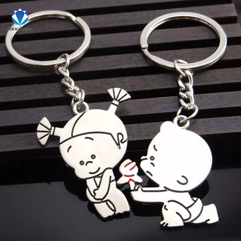 Novelty Items Casual Par Kärlek Keychain Cartoon Key Chain Lovers - Märkessmycken - Foto 2