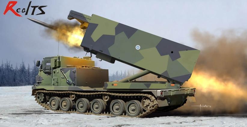 RealTS Trumpeter 1/35 01047 M270/A1 Mittlere Artillerie Raketen System Finland/Netherla trumpeter 05103 1 35 mi 24v hind e helicopter