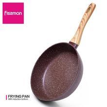 FISSMAN 단조 프라이팬 20 28CM 모스 스톤 코팅 알루미늄 오일 연기 사용 가스 유도 밥솥 용