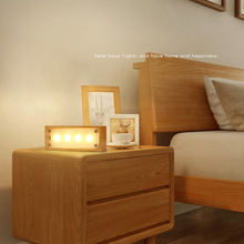 ZINUO LED Wood Night Light Table Lamp USB Powered Touch LED Night Lamp Warm Night Lamp Decorative Lighting for Home Children цена
