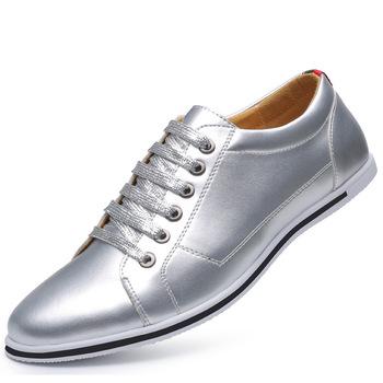 Duży rozmiar męska buty w stylu casual metalowe kolor rozrywka buty przeciwpoślizgowe człowiek sport buty w stylu casual oddychające wiązane buty dla mężczyzn zy341 tanie i dobre opinie Dla dorosłych Przypadkowi buty Lace-up Gumowe Wiosna jesień Mokasyny Pasuje prawda na wymiar weź swój normalny rozmiar