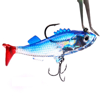 1PC Soft Silicon Worm Fishing Lure 76mm/15.7g Bass Carp Lead Jig Isca Artificial 3D Eyes Shad Fishing Bait Tool Pesca For Lake цена 2017