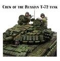 Kits de resina de 1/35 soldados del ejército Ruso Escala Moderna guerra Chechena soldado tanque de Resina Modelo Envío Gratis