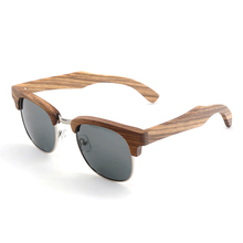 Sunglasses Women Men Polarized Retro Wood UV400