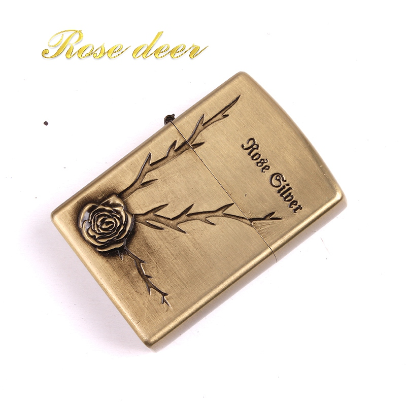 Metal attached present hell detective Clover kerosene lighter Windproof Smoking konstantine Vintage Style oil Lighter