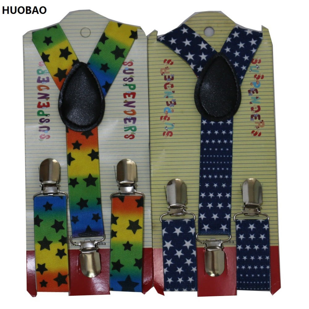 HUOBAO 2017 New Cute Kids Toddle Clip On Adjustable Star Braces Suspenders For Baby Boys And Girls