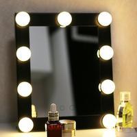 BEAUTMEI Spedizione Gratuita Vanity Tavoli Illuminato Specchio Per Il Trucco Con 9 LED Luci di Lampadina di Tocco Schermo Palco Specchio di Bellezza