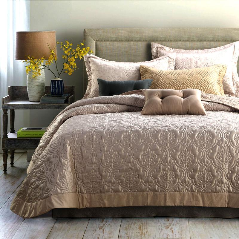 Svetanya quilted Quilt thick bed Sheet 230x250cm+pillowcases set ... : beige quilts - Adamdwight.com