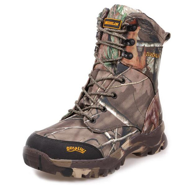50fcf1fb22a67 Camo Hunting Boots Realtree AP Camouflage Winter Snow Boots Waterproof,Outdoor  Camo Boot Hunting Fishing Shoes Size 39-46