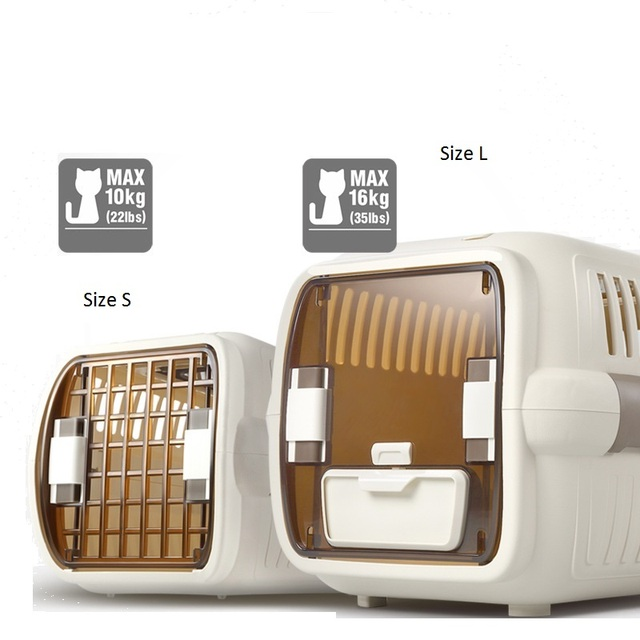 Cat Air Plane Transport Box Breathable Cat Puppy Dog Pet Travel Carrier Box For Cats And Small Dogs Pet Cat Cage WLYANG 2