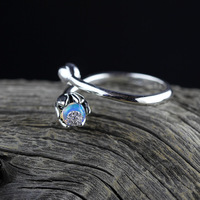 S925, sterling silver new accessories, opal lady, opening rings.