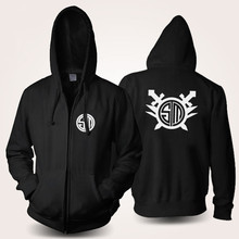 LOL Team TSM Anime Cosplay Costume Black Fleece Zipper/Pullover Hoodie Jacket(China)