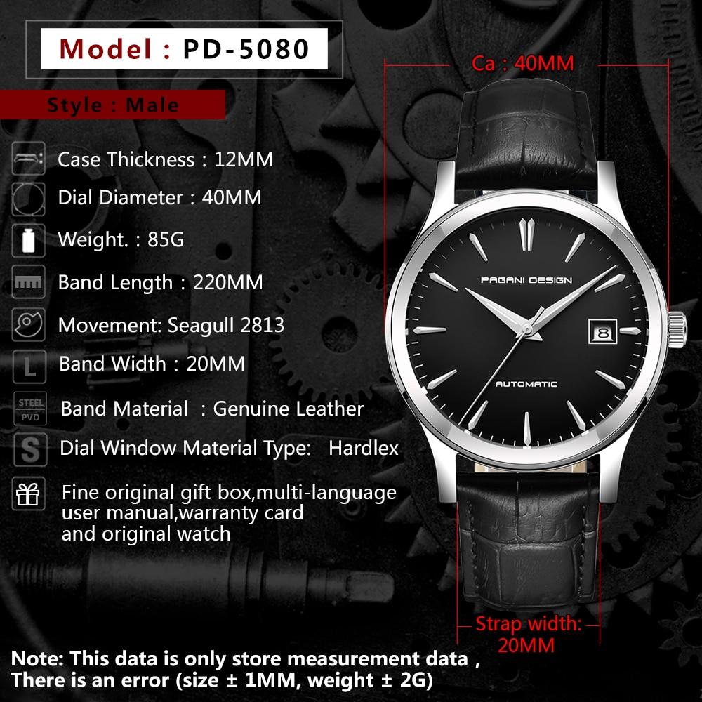 HTB1UvAQBZuYBuNkSmRyq6AA3pXau 2019 new Ultra-thin simple classic men mechanical watches business waterproof watch luxury brand genuine leather automatic watch